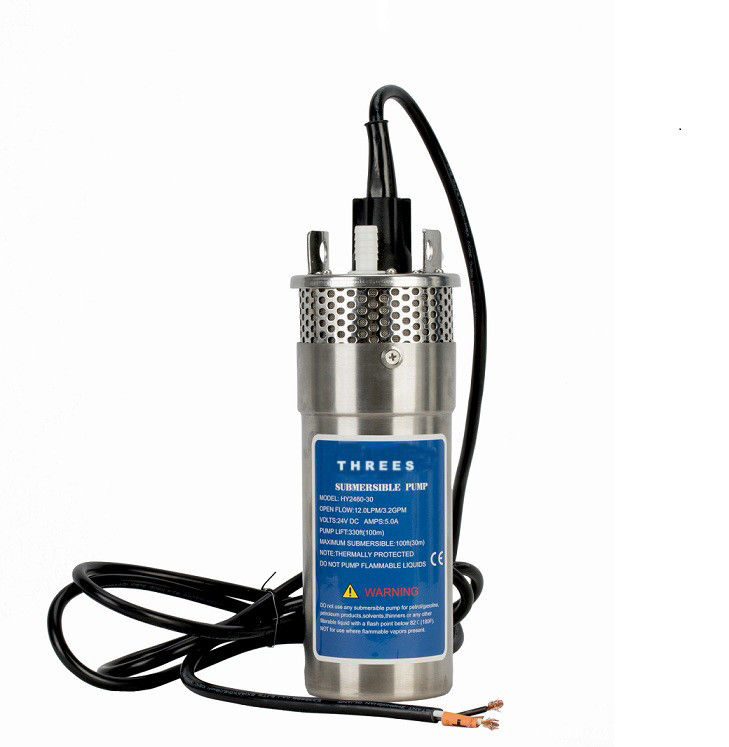 No Noise 12 Volt Submersible Pump , Dc Powered Submersible Water Pump 38mm